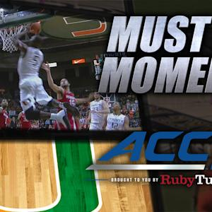 Miami Beautiful Fast Break Alley-Oop Dunk vs NC State   ACC Must See Moment