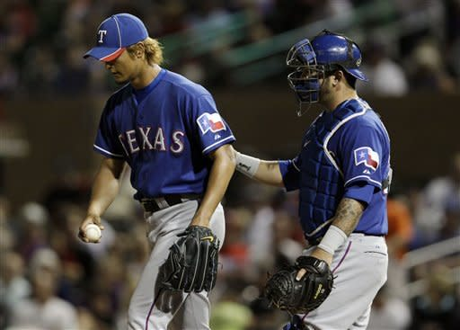 Darvish strikes out 11 in Rangers' 5-3 win