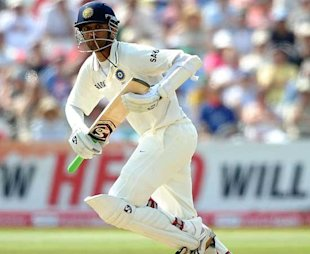 Dravid plays a shot