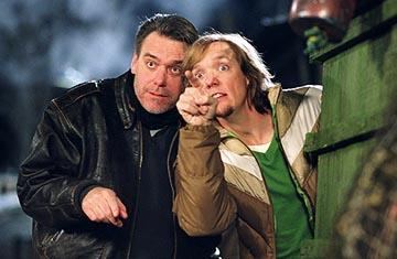 Director Raja Gosnell and Matthew Lillard on the set of Warner Bros. Scooby Doo 2: Monsters Unleashed