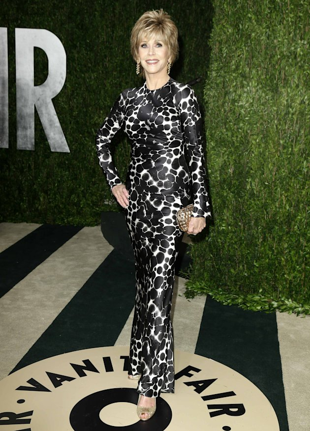 Jane Fonda at the 2013 Vanity Fair Oscars Party in West Hollywood