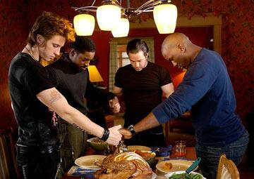Garrett Hedlund , Andre Benjamin , Mark Wahlberg and Tyrese Gibson in Paramount Pictures' Four Brothers