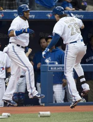 Rasmus doubles off kid brother as Jays beat Braves