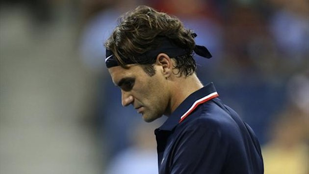 Roger Federer during his US Open quarter-final defeat to Tomas Berdych (Reuters)