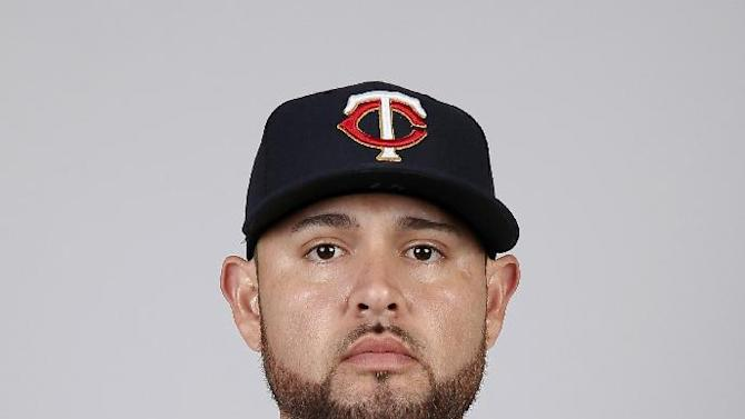 This is a 2015 photo of Ricky Nolasco of the Minnesota Twins baseball team. This image reflects the Twins active roster as of Tuesday March 3, 2015, when this image was taken. (AP Photo/Tony Gutierrez)