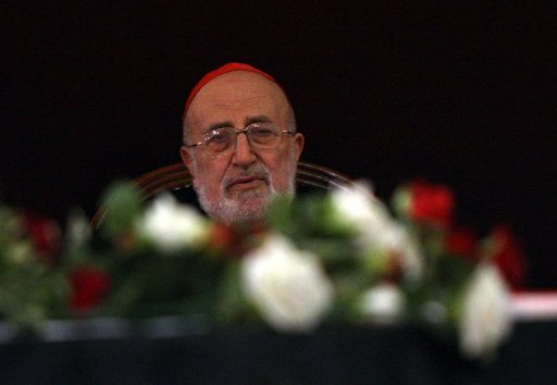 The patriarch of Iraq's Chaldean Catholic church, Emmanuel III Delly, listens during a funeral service in Baghdad on November 2, 2010. Bishops from the Iraq-based Chaldean Catholic Church met in Rome for security reasons on Monday for a synod to elect a new patriarch to lead what is one of the world's oldest Christian churches