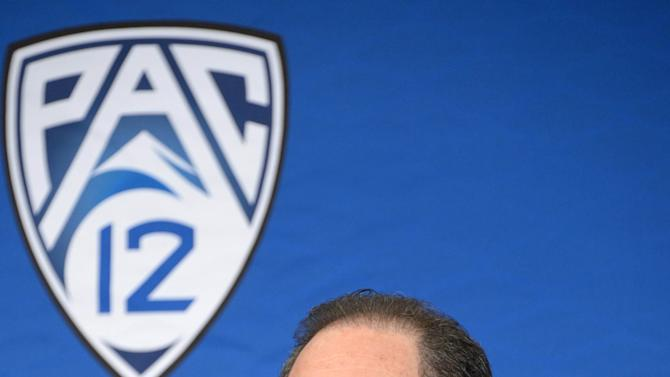 NCAA Basketball: Larry Scott Press Conference