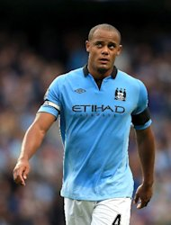 Manchester City are hopeful Vincent Kompany can overcome a knee injury to feature against Chelsea