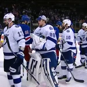 Rangers, Lightning shake hands after Game 7