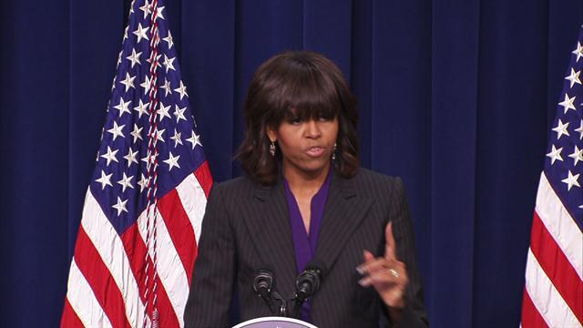 "Michelle Obama: Veterans ""deserve a fair shot at a good job"""