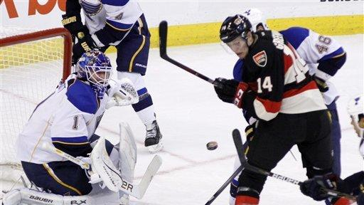 Blues upend Senators 3-1