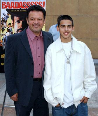 Paul Rodriguez and son at the Hollywood premiere of Sony Pictures Classics' Baadasssss!