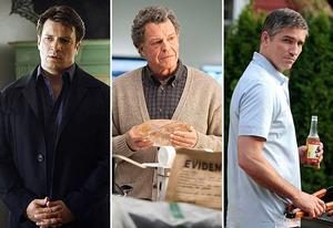 Nathan Fillion, John Noble and Jim Caviezel | Photo Credits: Vivian Zink/ABC; Liane Hentscher/FOX; Giovanni Rufino/CBS