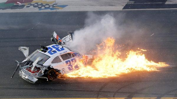 At least 33 NASCAR fans injured when car sails into fence at Daytona