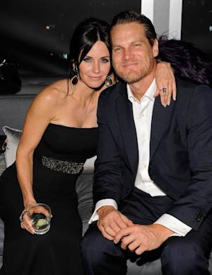 Courteney Cox and actor Brian Van Holt attend the InStyle and Warner Bros. 67th Annual Golden Globes post-party held at the Oasis Courtyard at The Beverly Hilton Hotel on January 17, 2010 in Beverly Hills -- Getty Images