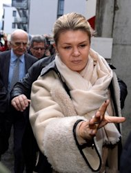 Corinna Schumacher, the wife of Michael Schumacher, arrives on January 3, 2014 at the Grenoble University Hospital Centre