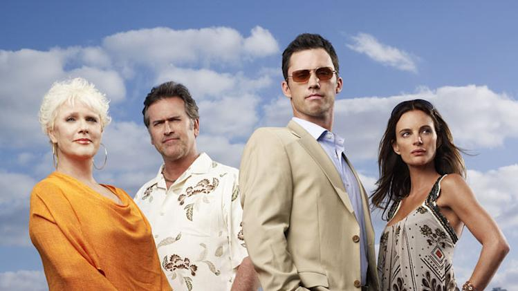 "The cast of ""Burn Notice."""