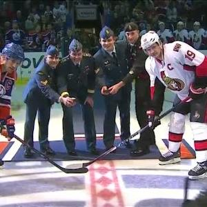 The Oilers honor the Canadian Armed Forces