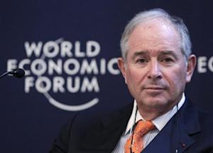 Stephen Schwarzman, chairman and CEO of the Blackstone Group, attends the annual meeting of the World Economic Forum in Davos