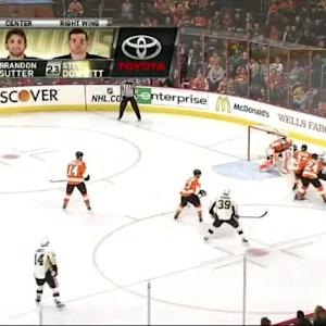 Ray Emery Save on Sidney Crosby (00:30/1st)