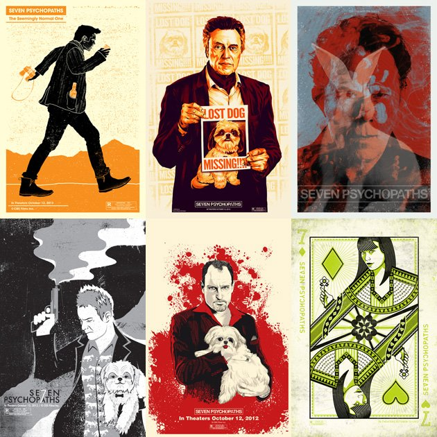 Seven Psychopaths Posters