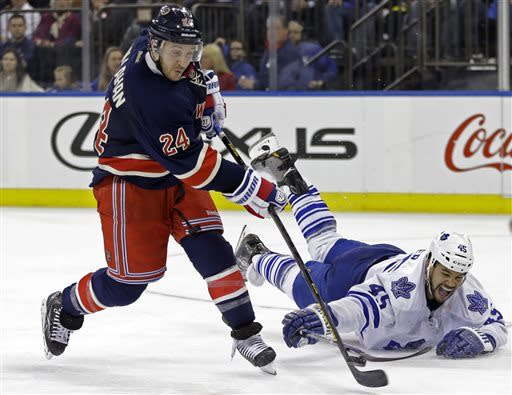 Zuccarello's SO goal lifts Rangers 3-2 over Leafs