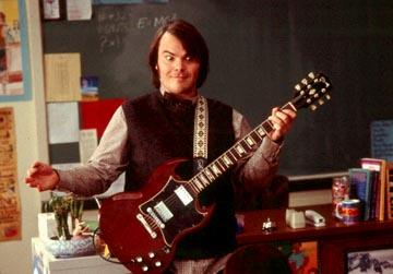 Jack Black in Paramount's The School of Rock