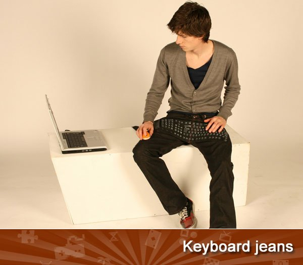 Keyboard jeans