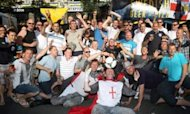 Euro 2012: England Fans Descend On Kiev