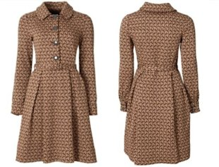 Kate Middleton Wearing an Orla Kiely Coat &amp; Aquatalia Boots in Oxford Today