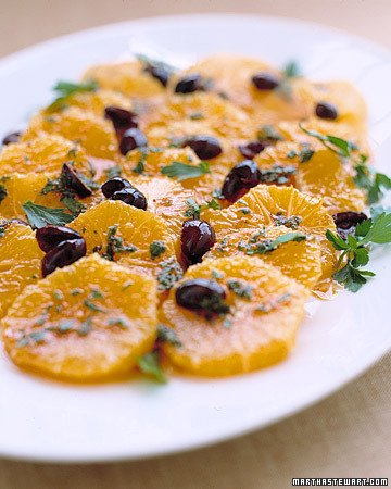 Oranges with Olives, Parsley, and Paprika