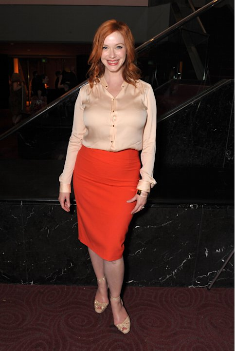 COMMERCIAL IMAGE - In this image provided by AMC, Christina Hendricks attends the Mad Men screening at the Academy of Television Arts & Sciences on Sunday June 10, 2012 in the North Hollywood section