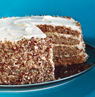 Pecan Spice Layer Cake with Cream Cheese Frosting. Photo by Roland Bello