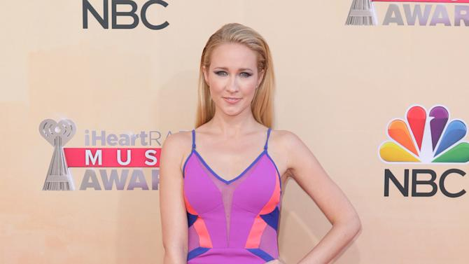 Anna Camp arrives at the iHeartRadio Music Awards at The Shrine Auditorium on Sunday, March 29, 2015, in Los Angeles. (Photo by John Salangsang/Invision/AP)