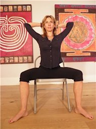 Jane Kersel seated yoga