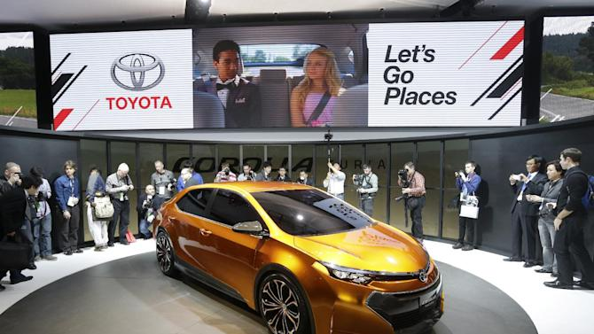 Toyota unveils its Corolla Furia Concept car during the North American International Auto Show in Detroit, Monday, Jan. 14, 2013. (AP Photo/Carlos Osorio)
