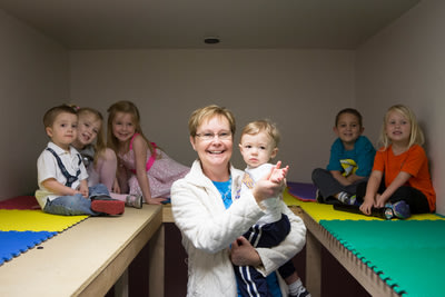 Nancy Goodrich's strong commitment to emergency preparedness at her Moore, Okla., child-care center protected dozens of children from harm during la...