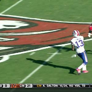 Buffalo Bills wide receiver Stevie Johnson 33-yard reception
