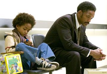 Jaden Smith and Will Smith in Columbia Pictures' The Pursuit of Happyness