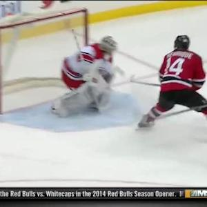 Adam Henrique stuns Khudobin with backhander