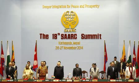 Country leaders attend the opening session of 18th SAARC summit in Kathmandu