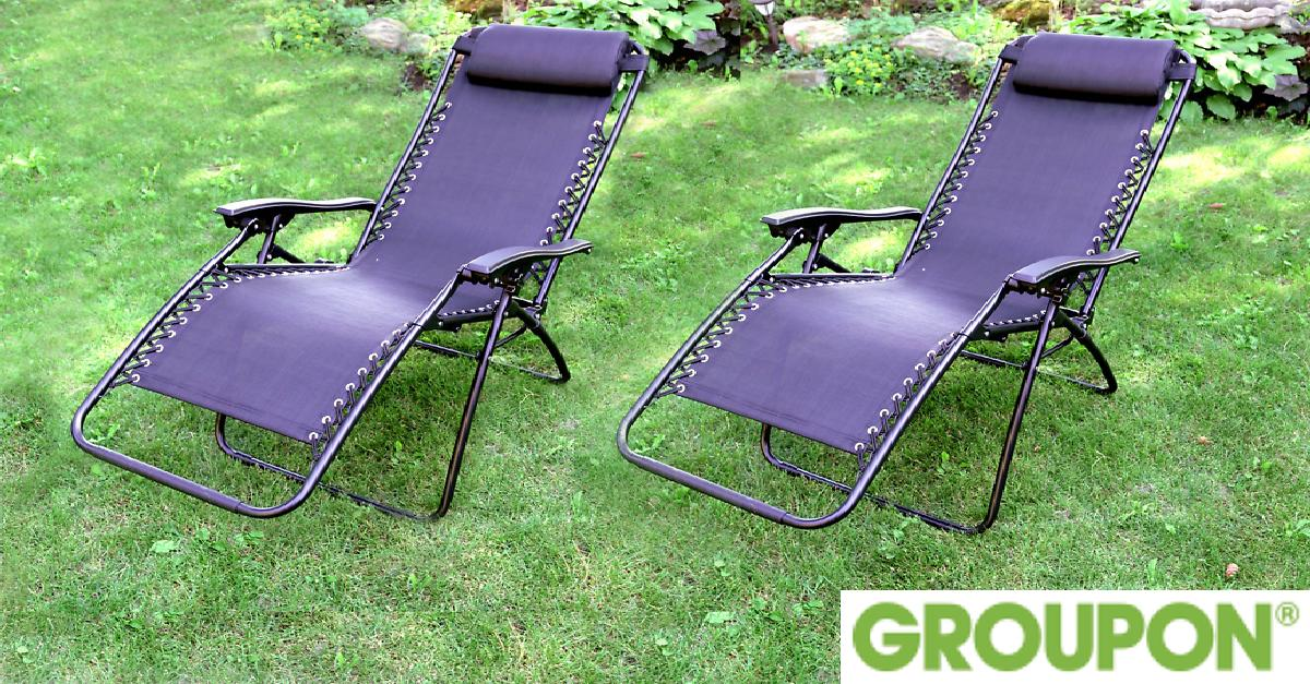 Two Zero Gravity Lounge Chairs for $99.99