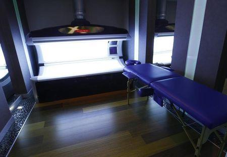A view of a tanning bed at a spa facility at Mistral Hotel in Gniewino