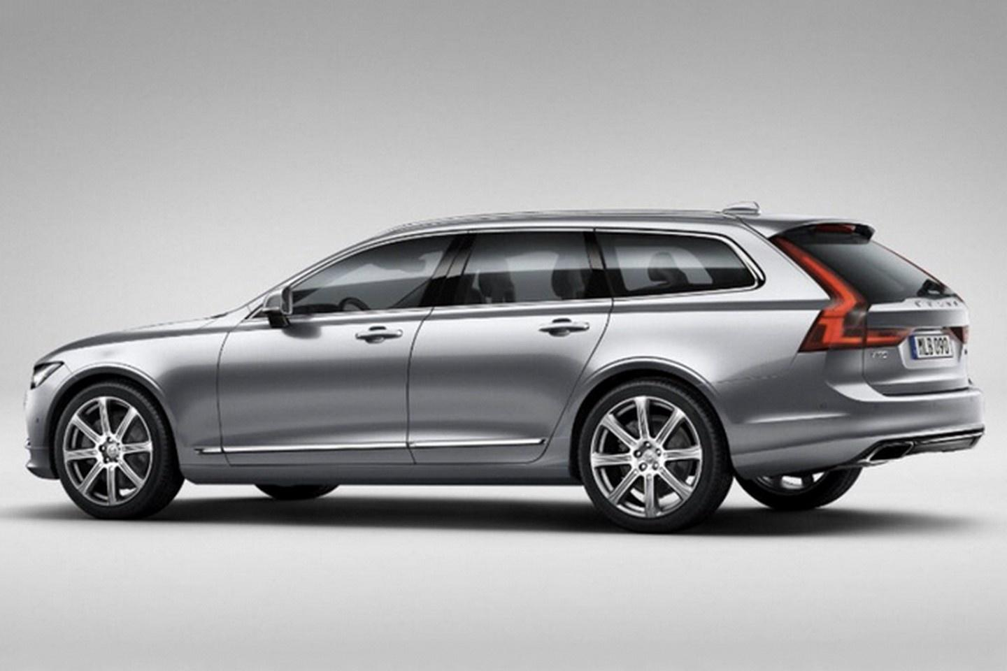 Volvo's head-turning V90 station wagon has been revealed prematurely by leaked images