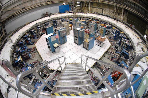 <p> A Dec. 22, 2005, photo provided by Brookhaven National Laboratory shows the 50-foot-wide electromagnet storage ring at Brookhaven National Laboratory in Upton, N.Y., on eastern Long Island. The ring, which will capture subatomic particles that live only 2.2 millionths of a second, will be transported in one piece, and moved flat, to its new home at the U.S. Department of Energy's Fermi National Accelerator Laboratory in Illinois. The trip is expected to take more than a month. (AP Photo/Brookhaven National Laboratory)