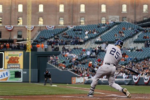 Yankees earn 1st win, 6-2 over Orioles