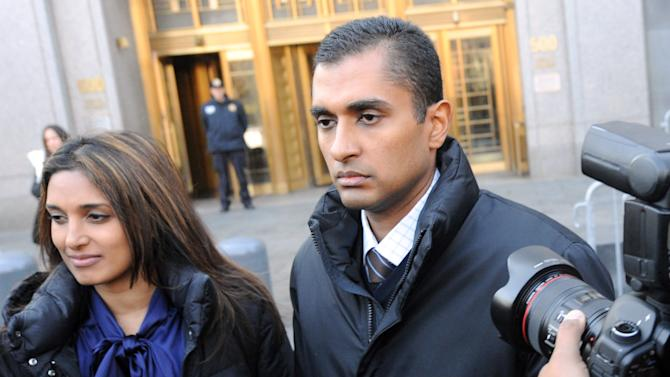 Mathew Martoma, former SAC Capital Advisors hedge fund portfolio manager exits Manhattan federal court, Monday, Nov. 26, 2012, in New York. Martoma was arrested on charges that he helped carry out the most lucrative insider trading scheme in U.S. history, enabling investment advisers and their hedge funds to make more than $276 million in illegal profits. (AP Photo/ Louis Lanzano)