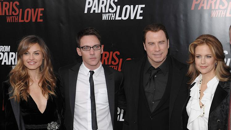 From Paris with Love NY Premiere 2010 Kasia Smutniak Jonathan Rhys Meyers John Travolta Kelly Preston