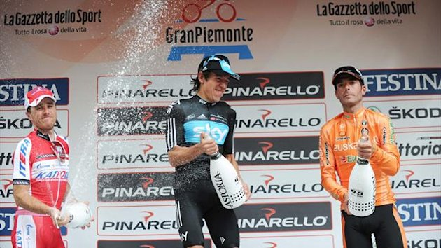 Gran Piemonte podium, Rigoberto Uran