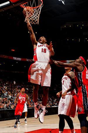 Uzoh has triple-double as Raptors rout Nets